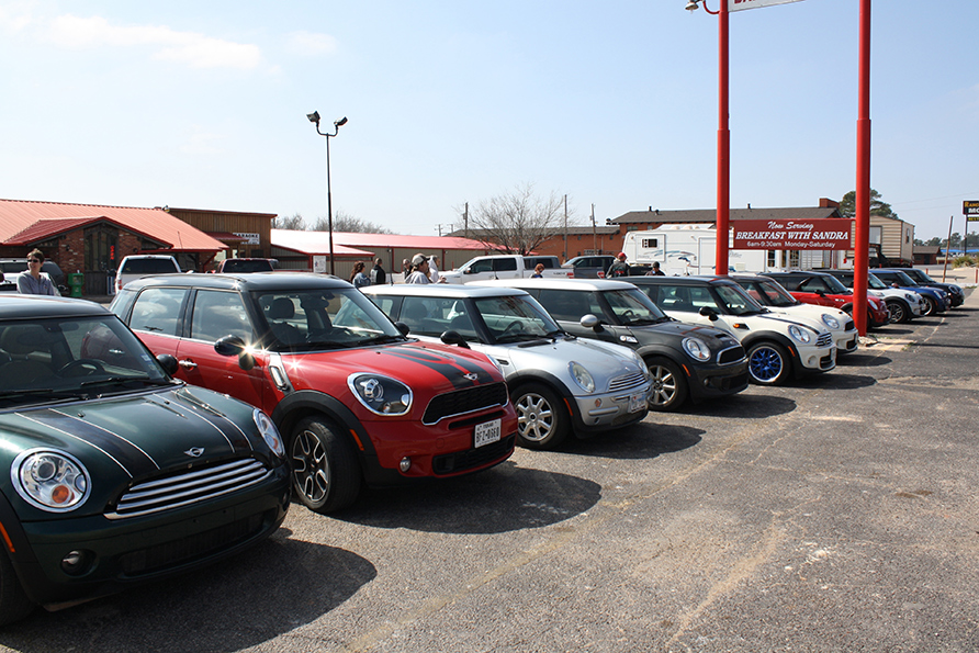 MINI ONLY parking at Buck's